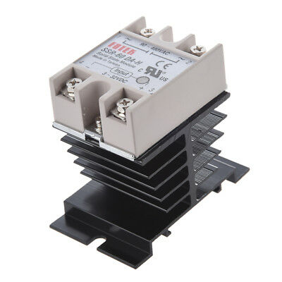 DC to AC SSR-60DA-H AC 90--480V 60A Single Phase Solid State Relay + Heat  D1L4)