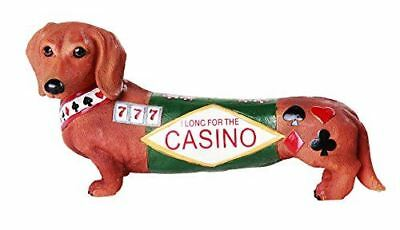 "Egift Doxies Collection ""Casino Long Shot"" Dachshund Dog Hot Diggity Figurine"