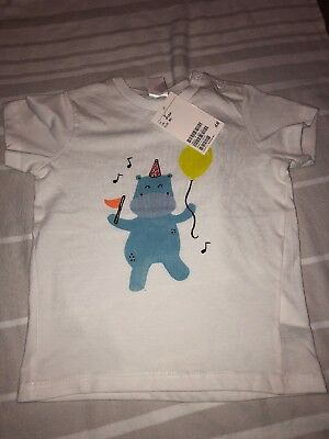H&M Baby Toddler Birthday Party Tshirt 9-12 Months BNWT