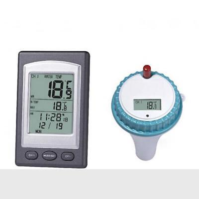 Wireless Pool Thermometer Digital LCD Floating Temperature Meter Transmitter Spa