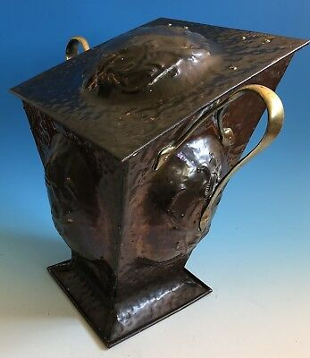 Late 19th Century Arts and Crafts Copper And Brass Coal Scuttle