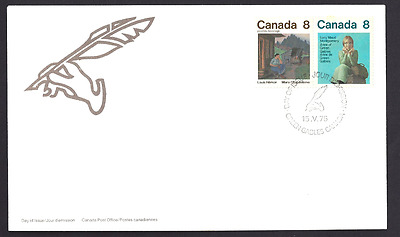 Canada  # 659 - 658     CANADIAN AUTHORS      New 1975 Unaddressed