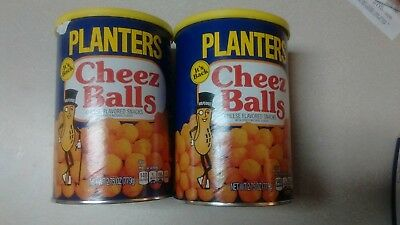2 Cans of Planters Cheez Balls Cheese Snack 2018 Limited Release In Hand