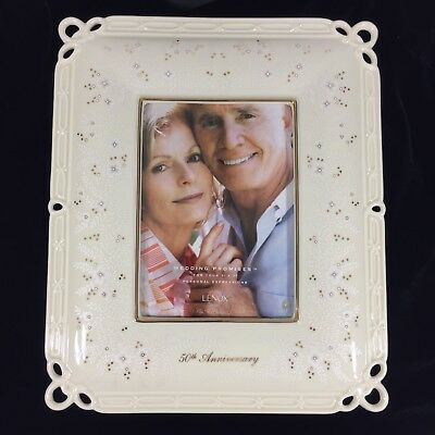 Lenox Wedding Frame Promises 50th Anniversary Frame Discontinued 5x7 Photo NIB