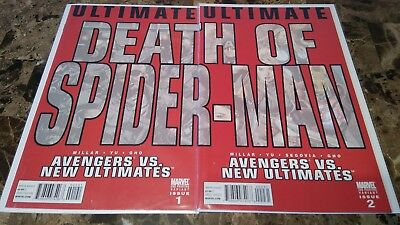 Avengers vs New Ultimates 1 2 Death of Spider-Man Variant NM- to VF/NM 9.2 9.0