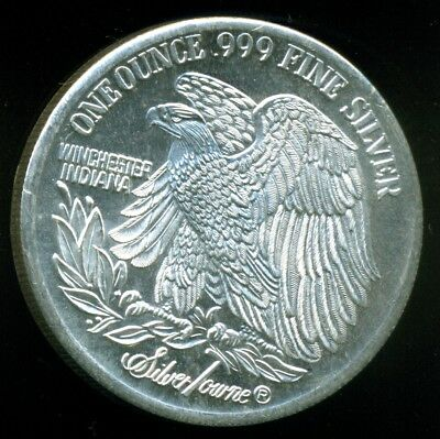 One Ounce 99.9% Pure Silver Bullion Coin, Silver Towne, Winchester Indiana