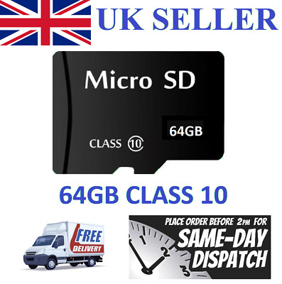 64GB Micro SD Card Class 10 TF Flash Memory SDHC 64G For Phone Tablet Camera