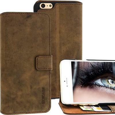 Per Iphone Apple 6 Plus Custodia Cellulare in Vera pelle Case - Antico Caffè