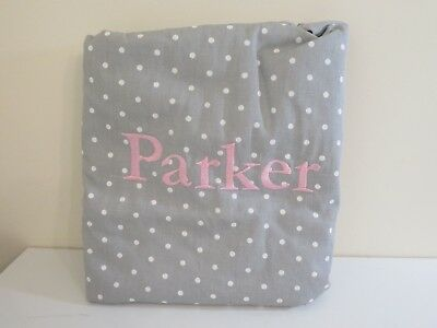 Pottery Barn Kids Grey & White Polka Dot Anywhere Beanbag Chair Cover Parker