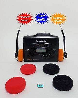 Panasonic Walkman cassette Radio player NEW BELTS CLEANED WORKING TESTED!
