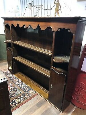 Early Georgian Oak Dresser Top. Kitchen Shelves. Open To Offers.