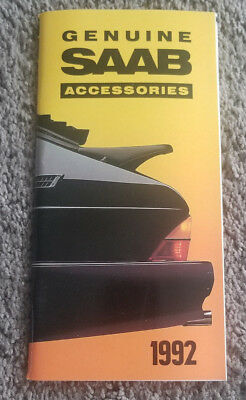 SAAB 900 SPG/9000 Turbo - 1992 Accessories catalog-NO RESERVE