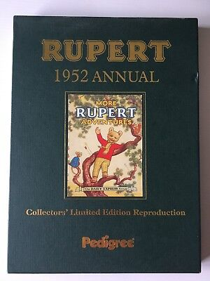Rupert The Bear Facsimile Copy Annual 1952 Collectors Limited Edition. Ex Cond