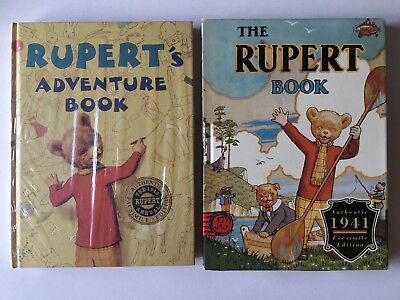 2x Rupert The Bear Facsimile Copy Annuals 1940 & 1941 Brand New Sealed
