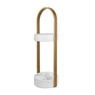 Umbra Hub Umbrella Stand White/Natural