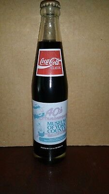 Coca-Cola Commemorative Bottle: Museum of York County 40th Anniversary