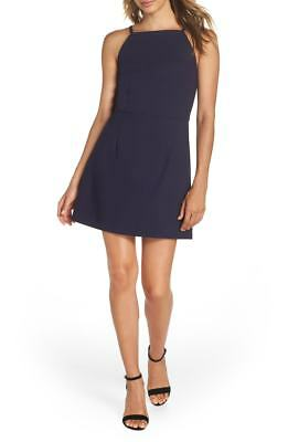 8f9c917159b02 $280 French Connection Womens Blue Whisper Light A-Line Mini Sheath Dress  Size 4