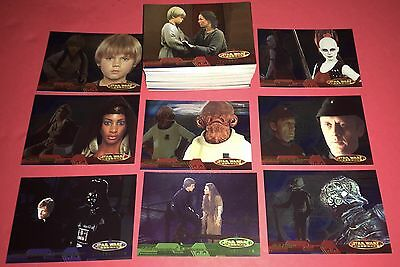 2001 Star Wars Evolution 90 Card Trading Set By Topps NM/Mt