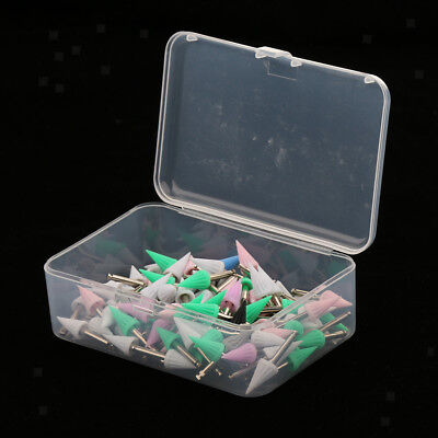 100PCS Screw on Type Disposable Dental Prophy Cup Brush Pointed Polishers