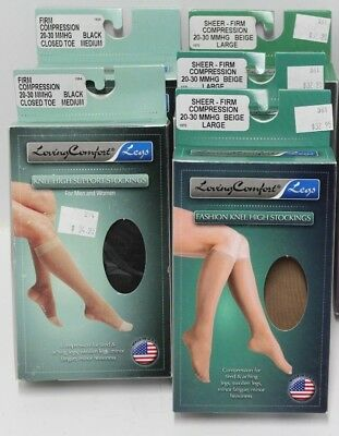 New Scott Specialties Loving Comfort Legs Compression Stockings 20-30 MMHG
