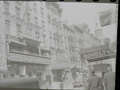 Chinatown Manhattan NYC Old Photo Negative Port Arthur street  30s-40s Mott St
