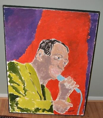 """JOHN TORRES LARGE PAINTING AFRICAN AMERICAN ARTIST  FRAMED 30.4"""" x 41.25"""" inches"""