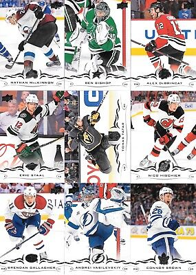 U PICK 4 CARD LOT 2018-19 18-19 UD Upper Deck Series 1 Base set cards #1-200