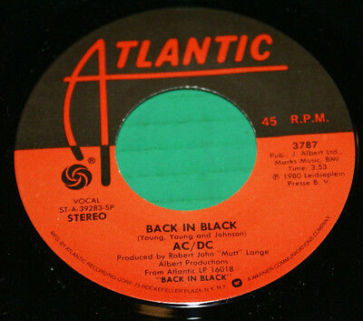"""Acdc Ac/Dc Back In Black What Do You Do For $ Honey  + Cover 7"""" Record 1st Press"""