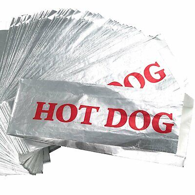 Warming Foil Hot Dog Wrapper Sleeves 200 Pack by Avant Grub.