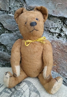 """RARE Antique vintage old  French FADAP  small size teddy bear, 1930s, 11"""""""
