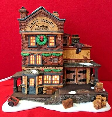East Indies Trading Co Dept 56 Dickens Village 58302 Christmas snow building A