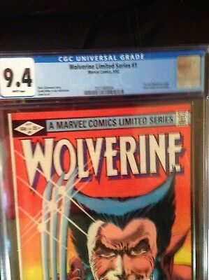 Wolverine #  1 cgc 9.4  limited series  -new mint case