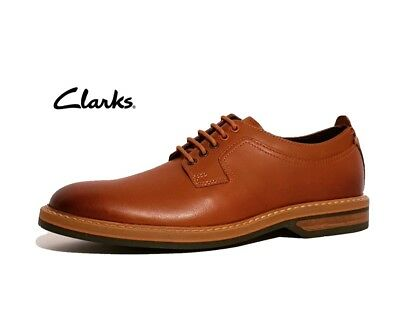 Clarks Pitney Walk Rrp £95 Tan Brown Genuine Leather Formal Lace Up Shoes Mens