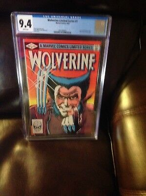 wolverine limited series # 1 cgc 9.4  white pages ,perfect case