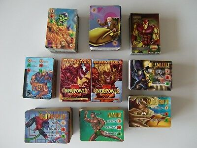 Marvel OverPower cardgame, pack of 866 cards, 1995, very fine