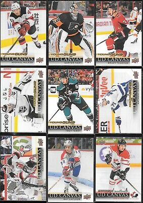U PICK EM LOT 2018-19 18-19 Upper Deck Series 1 & 2 UD Canvas RC YG SP card set