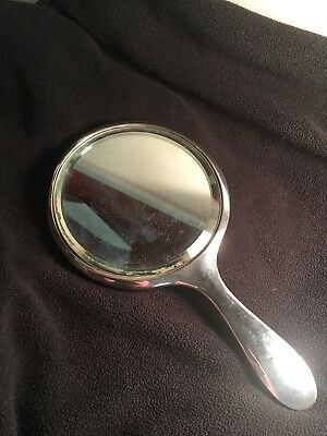 Antique Hallmarked Silver Hand Mirror