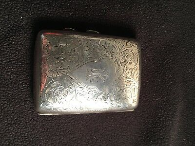 An Antique Hallmarked Solid Sterling Silver Cigarette Case