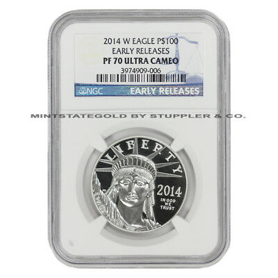 2014-W $100 Platinum Eagle NGC PF70UCAM Early Releases Ultra Cameo Proof coin