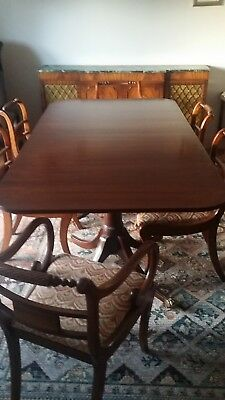 Mahogany dining table and 8 chairs
