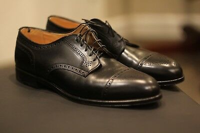c65ee11a65e Alden 957 Black Leather Brogues Shoes Rare Discontinued Made in USA Size  11.5 C