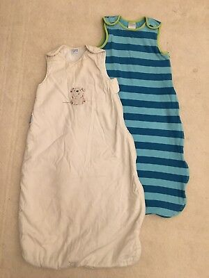 Baby Sleeping Bags Bundle Grobag And John Lewis Age 6-18 Months 2.5 Tog