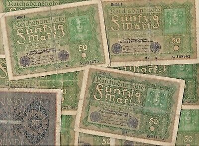 Rare 1919 German Post WWI War Berlin Mark Note Nice Collection Lot 100 Years Old