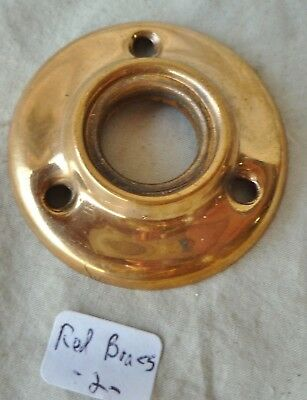 "door knob rosette (ONE) 2 1/16"" dia Polished Ogee Stamped RED BRASS ( per Each)"