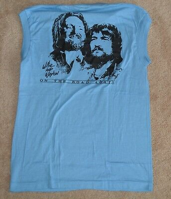WILLIE NELSON OWNED 1984 T-SHIRT VINTAGE On The Road Again Tour Med original