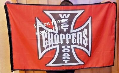 Harley Motorcycle Evel Knievel 3x5 Flag new Choppers West Coast WCC