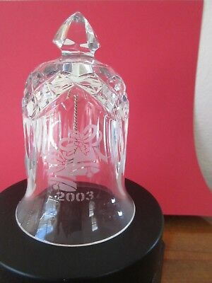 Waterford 2003 Dated Crystal Bell With Logo