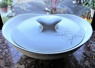 ATOMIC MID CENTURY Hallcraft Eva Zeisel Fantasy Hall Casserole Covered Dish 2 qt