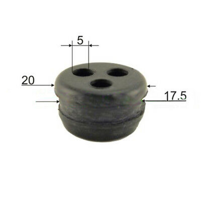 Rubber 3 Hole Fuel Tank Grommet Fits for Strimmer Hedge Trimmer Brushcutter New