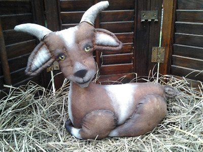 Primitive~  FoLk ArT ~  Baby GOAT  ~ Cloth Doll ~ Paper Pattern For Sewing